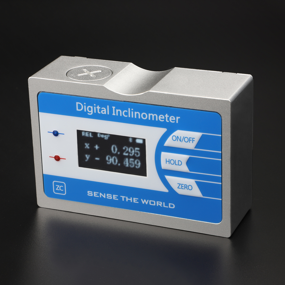 » High accuracy wireless digital inclinometer with LCD screen and strong magnetic mounting
